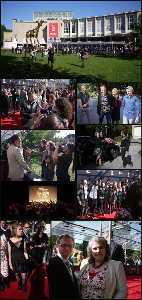 """Beelden van de premiere van """"Met jou heb ik geleerd""""  tijdens het filmfestival in de Stadsschouwburg van Utrecht"""