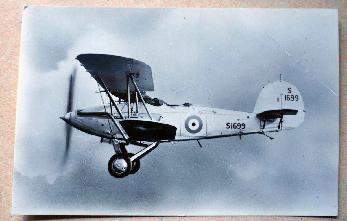 Hawker Osprey Mark I, Reg nr. S1699 (ansichtkaart in eigen collectie H.J. Lirb)