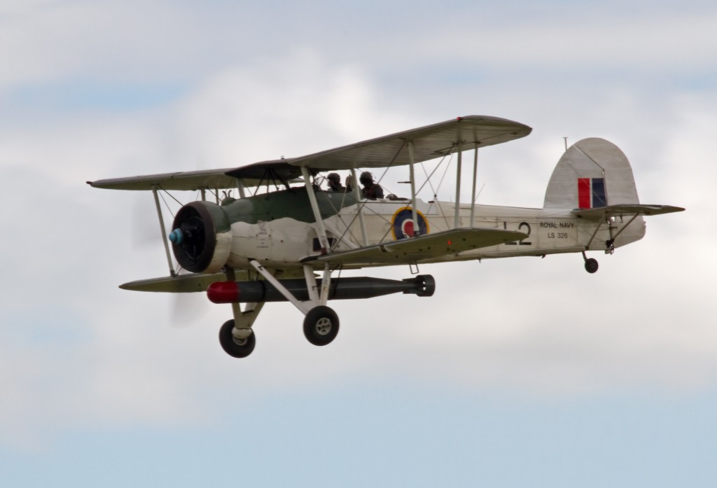 Een Fairey Swordfish gefotografeerd in 2012 door Tony Hisgett uit Birmingham, UK (http://www.flickr.com/people/37804979@N00) . Wikimedia Commons.