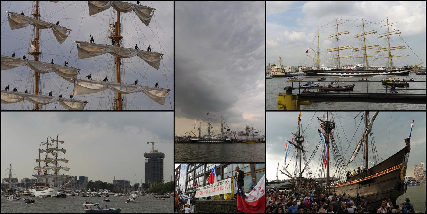 Sail 2015. Ik ben met Feliz op pad geweest en we hebben video-opnames gemaakt en een paar foto's. De replica van de