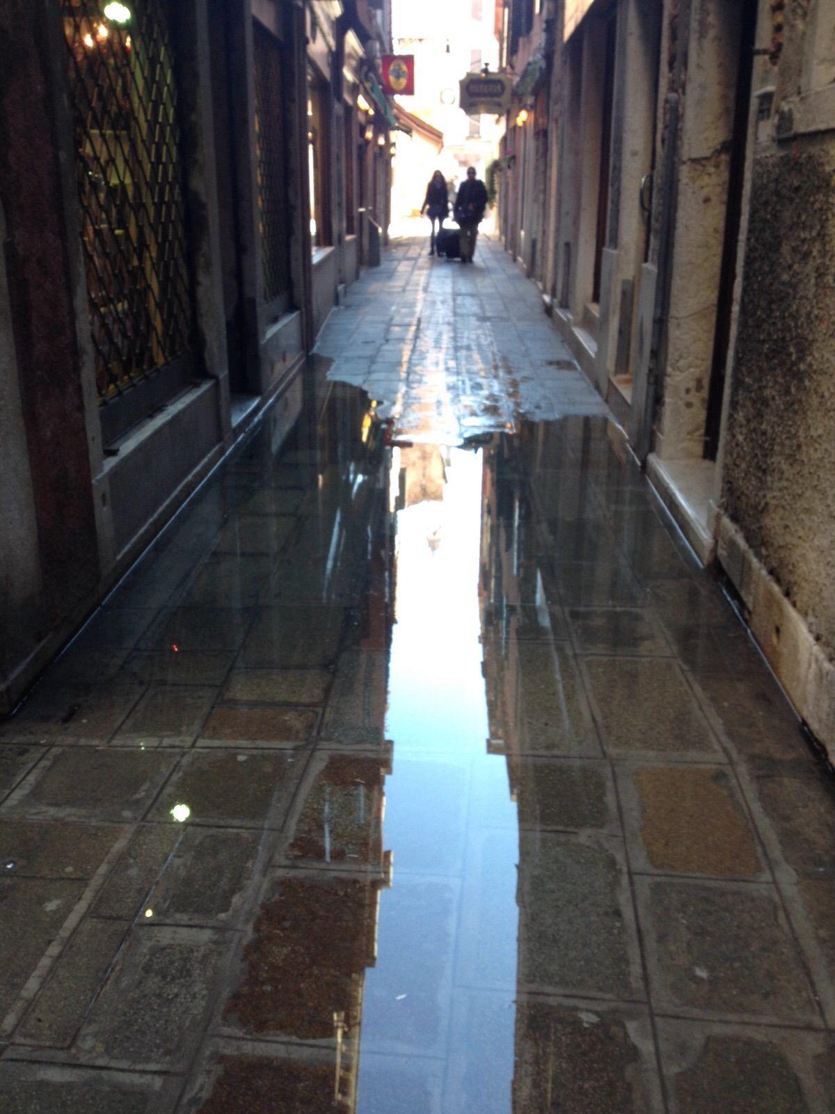 Wateroverlast in Venetië (27 november 2015). ©2015 Sofia J. Lirb.
