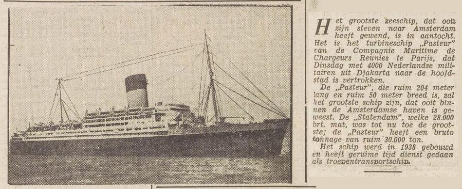Het Vrije Volk, 9 februari 1950, KB / Delpher (tekst nu naast foto herschikt)