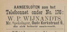 Het publiek is altijd zeer geïnteresseerd geweest in nieuwe telefoontjes. Annonce van een nieuwe telefoonaansluiting van een spekkoper uit Delft in 1900 (Delftse Courant 20 juni 1900)