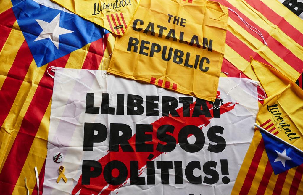 Catalanistische vlaggen 2018