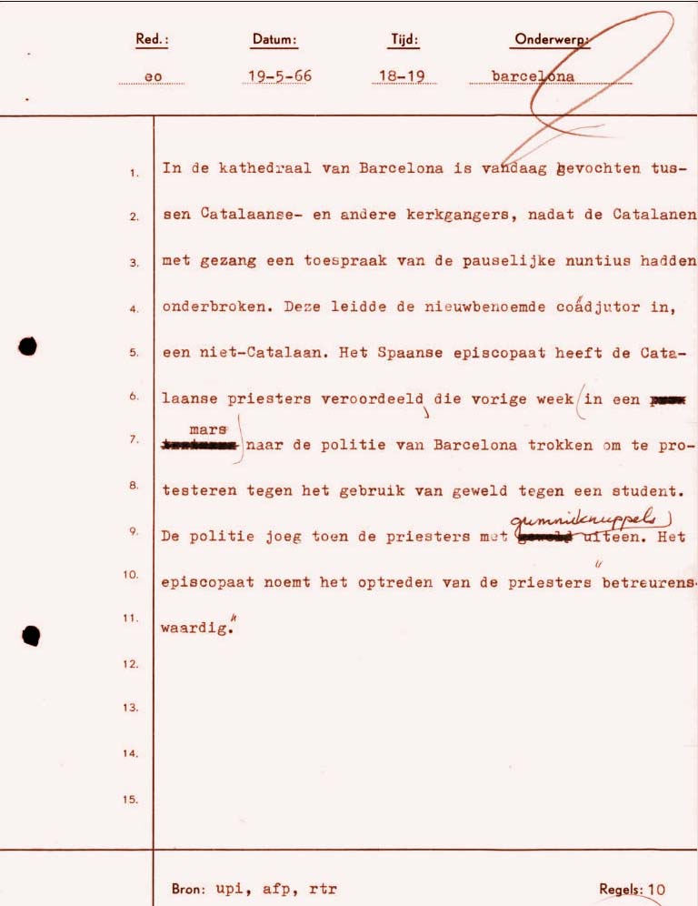 ANP bericht 19 mei 1966